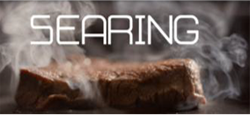 Searing meat