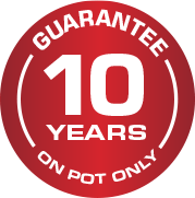Guarantee 10 years on pot only